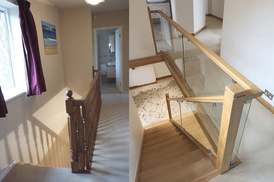 First Step Designs Closed To Open Plan Staircase Replacement Glass And Oak Specialists