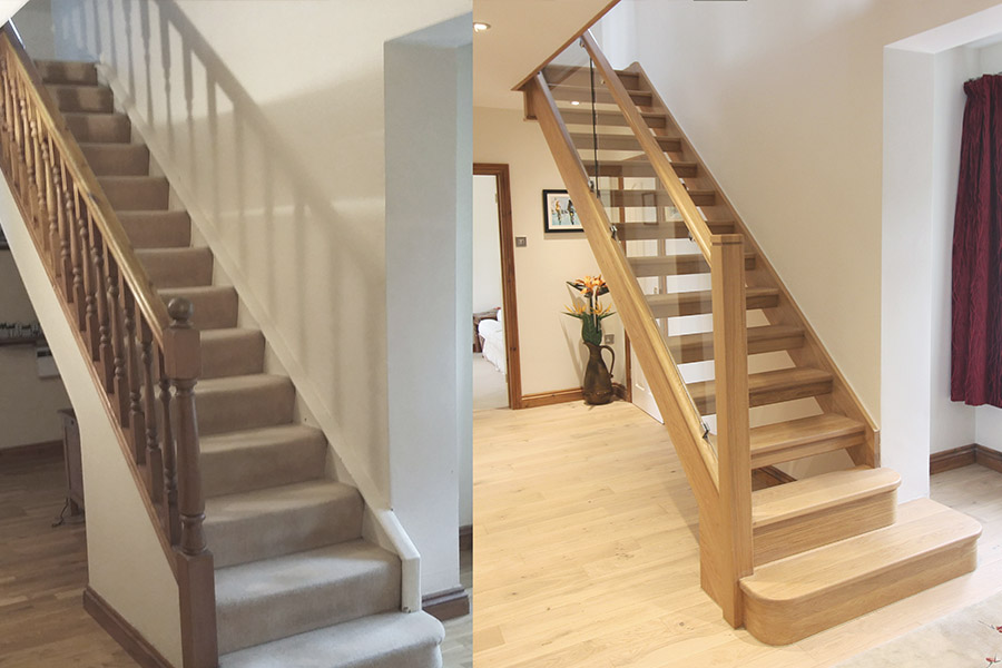 If You Wish To Convert A Closed Staircase An Open Full Replacement Is Required This The Story Of Mr And Mrs Hull Replacing Their Old